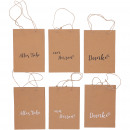 Paper bag Thank you, 3 motifs, 2 colors, L16cm, B6